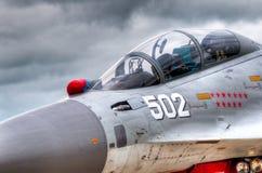 самолет-истребитель кокпита воздуха Стоковые Фотографии RF
