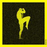 самолет-истребитель Концепция спорт модель человеческого тела 3D Черный и желтый зернистый дизайн бесплатная иллюстрация