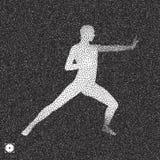 самолет-истребитель Концепция спорт модель 3D человека Черно-белое зернистое иллюстрация штока