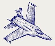 Самолет-истребитель иллюстрация вектора