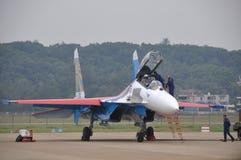 Самолет-истребитель Su-27 Стоковые Фотографии RF