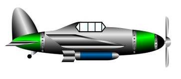 Самолет-истребитель WW2 иллюстрация штока