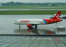 Самолет к Мальте Стоковое Фото