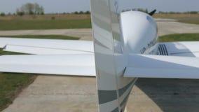 Самолет на авиаполе видеоматериал