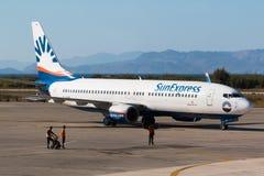 Самолет на авиапорте 3 Стоковые Изображения RF