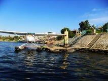 Самолет поплавка, река Нил, Египет Стоковое Изображение RF