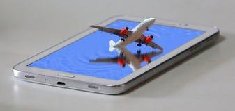 Самолет приходя из виртуальной реальности стоковые изображения