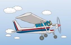 самолет свирепый иллюстрация вектора