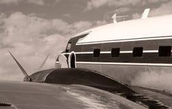 самолет старый стоковое изображение