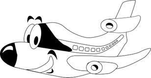 самолет счастливый бесплатная иллюстрация