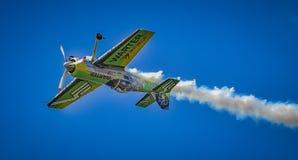 Самолет Jurgis Kairys на выставке Бухареста воздухоплавательной стоковое изображение