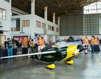 Самолет ` s Джастина Phillipson никакой ` 79 никакие строки прикрепило Shoestring модели воздушных судн ` в кубке мира Таиланде 2 Стоковые Изображения RF
