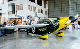 Самолет ` s Джастина Phillipson никакой ` 79 никакие строки прикрепило Shoestring модели воздушных судн ` в кубке мира Таиланде 2 Стоковые Изображения