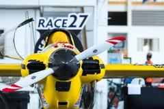 Самолет ` s Кента Jaskson никакой 27 воздушных судн ` ` еще раз моделируют Cassutt III-M в кубке мира Таиланде 2017 гоночного пол Стоковые Изображения RF