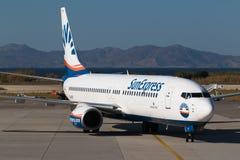 Самолет Sunexpress Стоковые Изображения RF