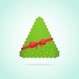 Самомоднейшая абстрактная предпосылка рождественской елки иллюстрация штока