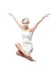Самомоднейшая девушка танцы типа Стоковое фото RF
