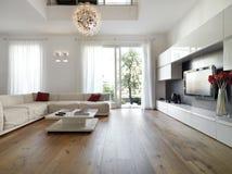 Самомоднейшая живущая комната стоковое изображение