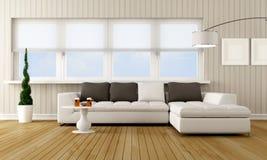 Самомоднейшая живущая комната иллюстрация вектора