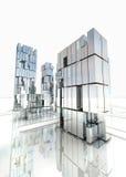 Самомоднейшая конструкция финансового района с небом Стоковая Фотография RF