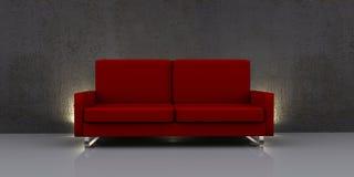 самомоднейшая красная софа Стоковое Фото