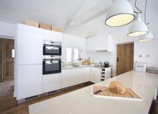 Самомоднейшая кухня 1 Стоковая Фотография