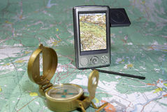 самомоднейшая навигация Стоковые Фотографии RF