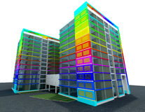 Самомоднейшая принципиальная схема здания стоковая фотография rf