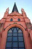 Самомоднейшая розовая церковь Стоковые Изображения RF