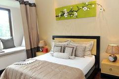Самомоднейшая спальня Стоковая Фотография RF