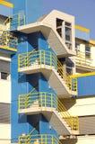 самомоднейшее блока квартир голубое Стоковые Фото