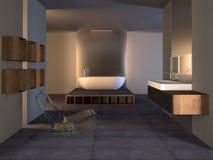 самомоднейшее ванной комнаты европейское Стоковое фото RF