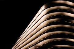 Самомоднейшее здание на ноче Стоковое фото RF