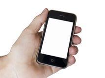 самомоднейшее касание экрана телефона Стоковое Фото