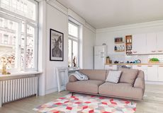 самомоднейшее квартиры нутряное Стоковые Фото