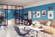 самомоднейшее квартиры нутряное Стоковые Изображения