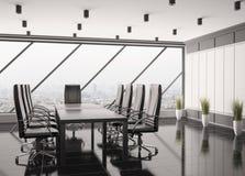 самомоднейшее комнаты правления 3d нутряное Стоковое фото RF