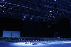 самомоднейшее конференц-зала нутряное Пустой интерьер конференц-зала Стоковое фото RF