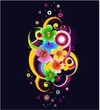 самомоднейшее предпосылки флористическое Стоковые Изображения RF