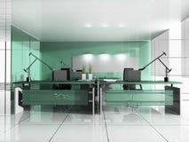 самомоднейшее рабочее место офиса Стоковое Фото