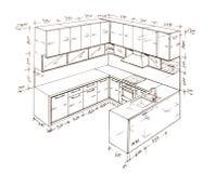 самомоднейшее свободной руки чертежа конструкции нутряное Стоковая Фотография RF
