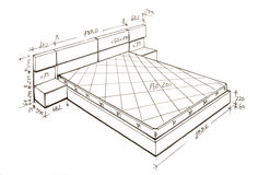 самомоднейшее свободной руки чертежа конструкции нутряное Стоковые Изображения RF