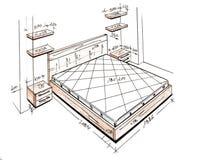 самомоднейшее свободной руки чертежа конструкции нутряное Стоковое Изображение