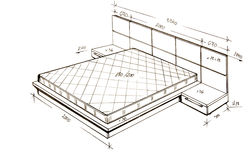 самомоднейшее свободной руки чертежа конструкции нутряное Стоковое Фото