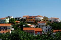 Самомоднейшие дома в Hvar, Хорватия Стоковое Изображение RF