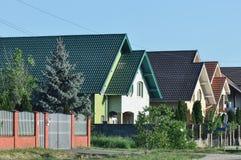 Самомоднейшие дома стоковое фото