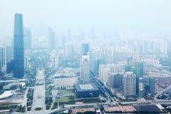 Самомоднейшие небоскребы в финансовохозяйственном заречье стоковое изображение rf