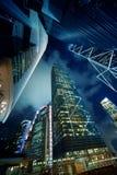 самомоднейшие небоскребы Стоковые Изображения RF
