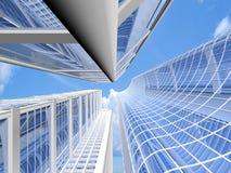 самомоднейшие небоскребы Стоковые Фото
