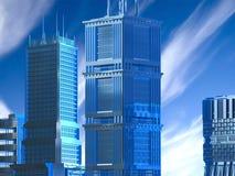самомоднейшие небоскребы Стоковое Фото
